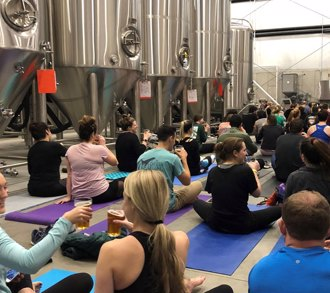 Bendy Beers: Beer + Yoga!